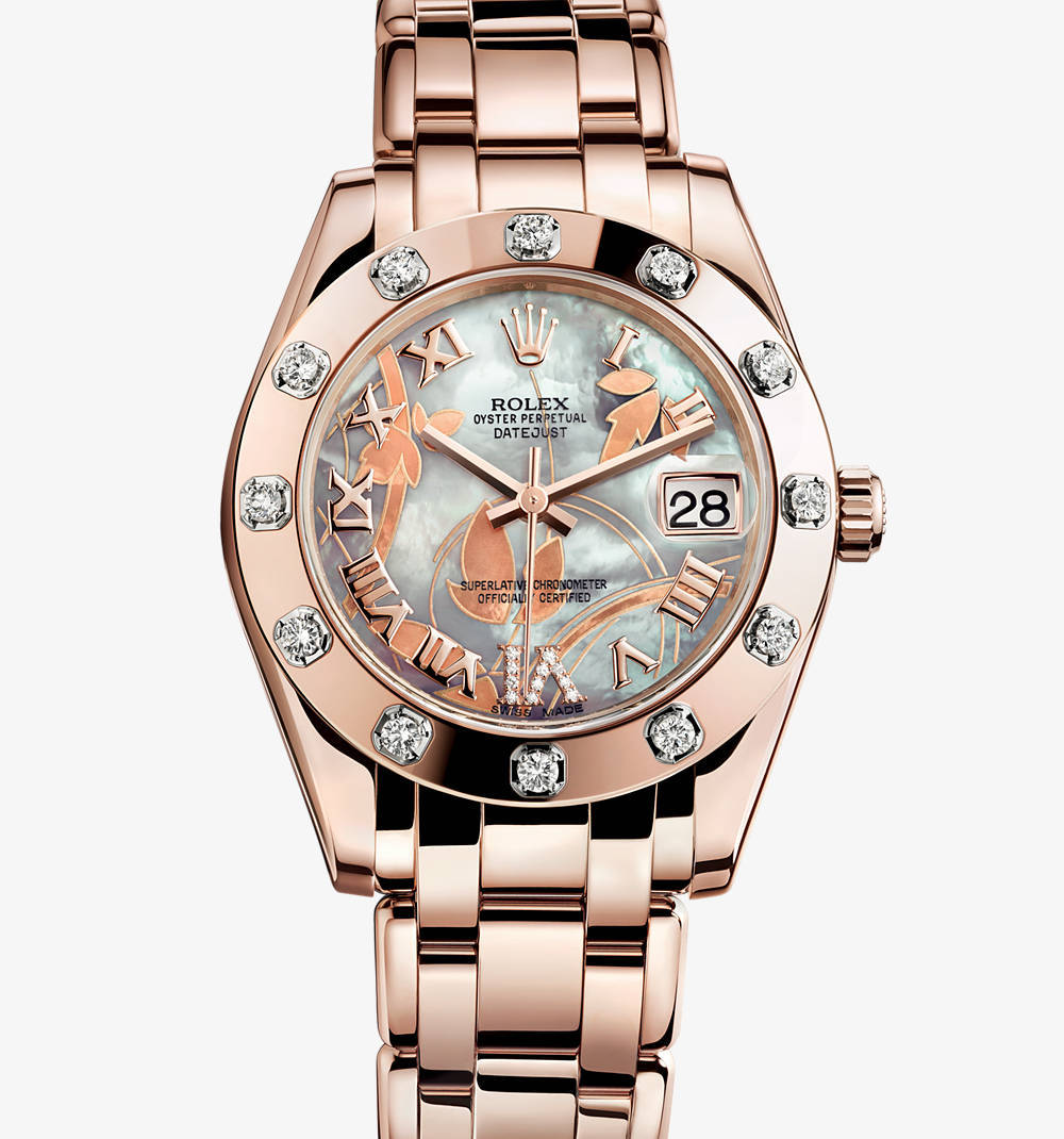 Replica Rolex Datejust Special Edition Watch: 18 ct ouro Everose - M81315-0011 [a220]