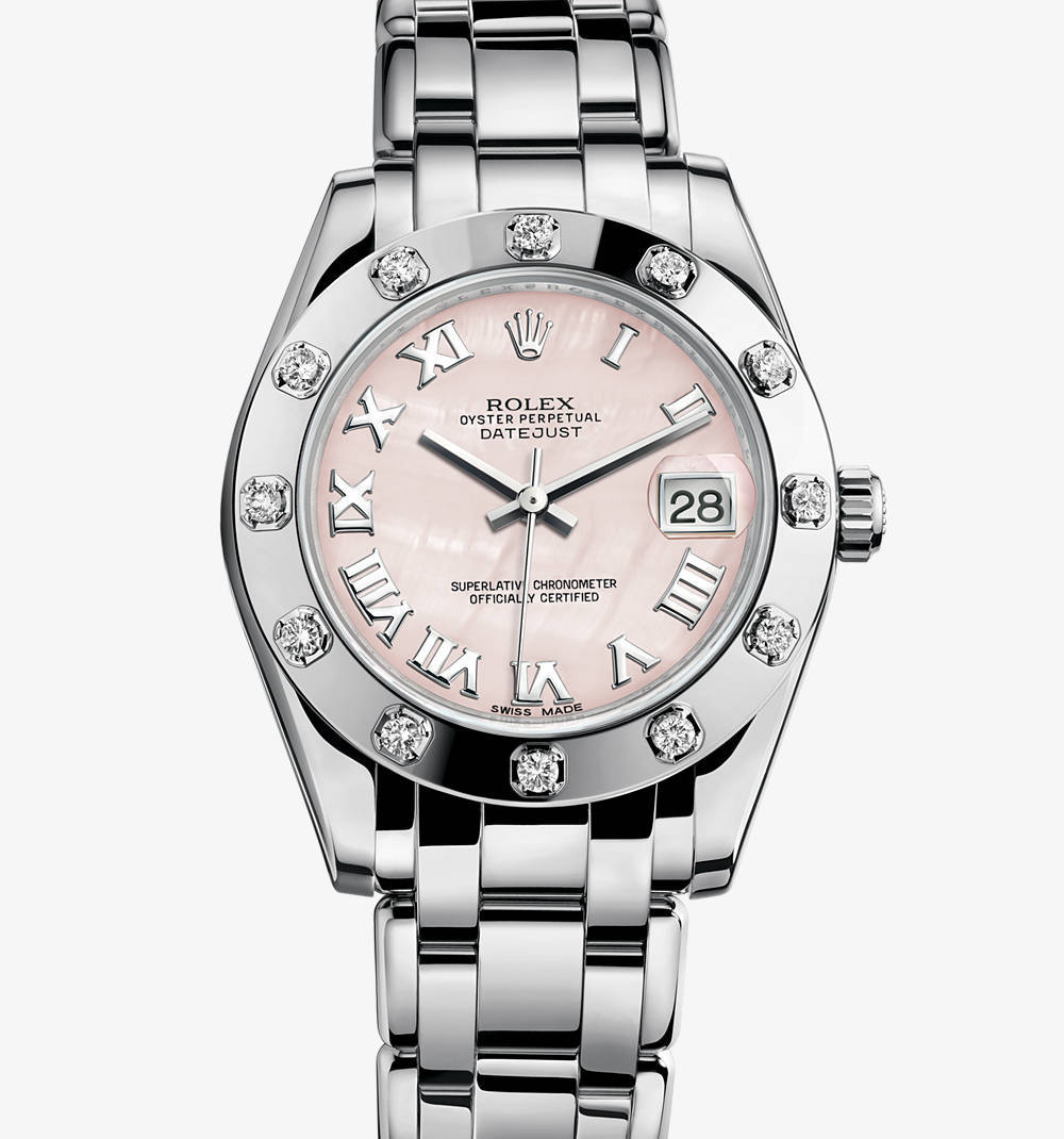 Replica Rolex Datejust Special Edition Watch: 18 quilates de ouro branco - M81319-0018 [a1f1]