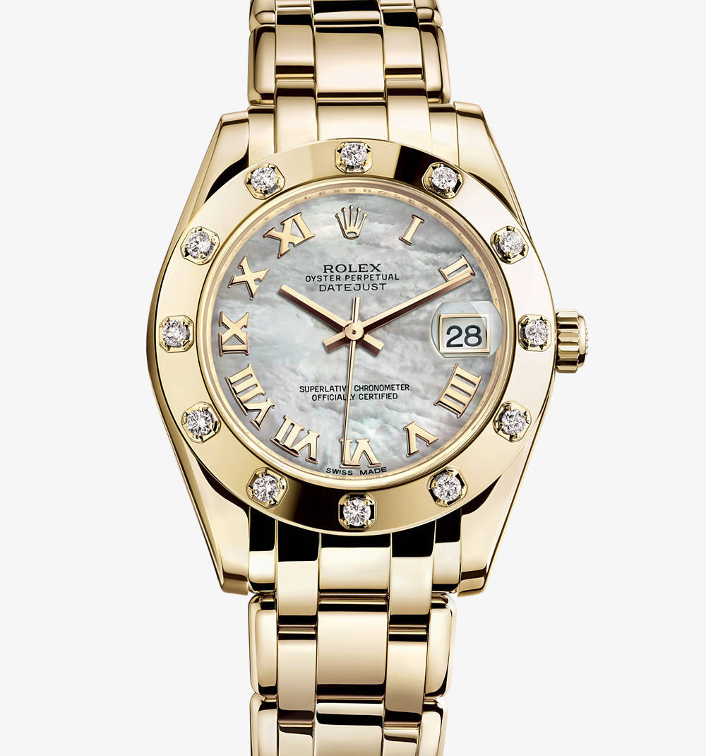 Replica Rolex Datejust Special Edition Watch: 18 quilates de ouro amarelo - M81318-0005 [6fca]