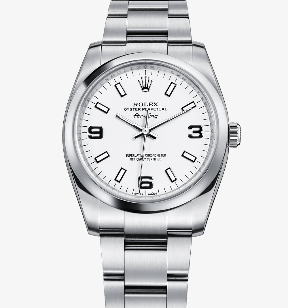 Replica Rolex Air-King Watch: 904L steel – M114200-0003 [9d4d]