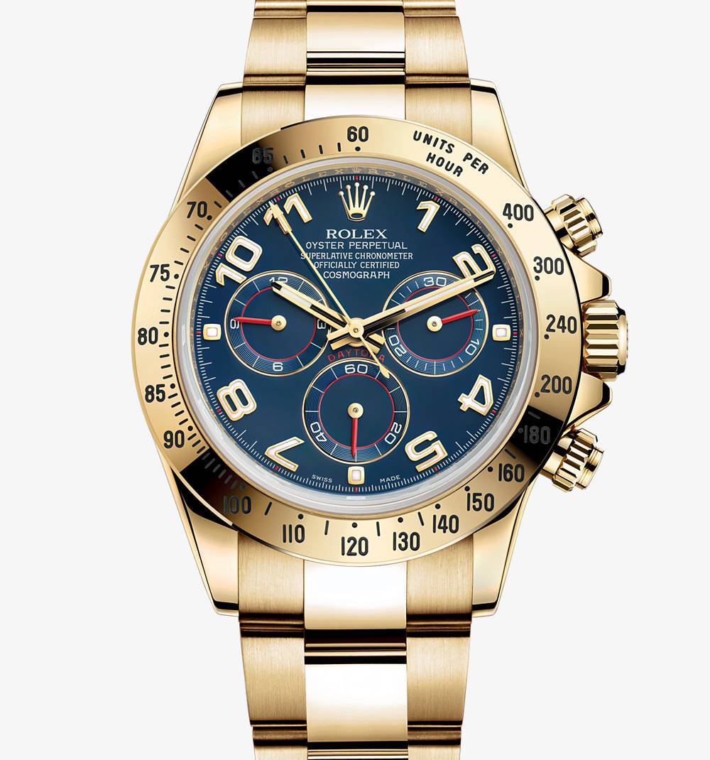 Replica Rolex Cosmograph Daytona Watch: 18 quilates de ouro amarelo - M116528-0037 [2cd9]